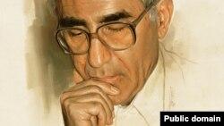 چهره ناصر کاتوزیان در اثری از برادر نقاش او مرتضی کاتوزیان