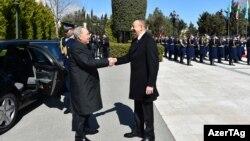Qazaxıstan prezidenti N.Nazarbaev-in rəsmi qarşılanma mərasimi.