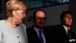 Merkel, Hollande, Renzi - foto arkivi