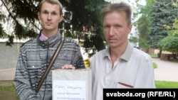 Аляксандар Кірылаў (зьлева) і Сяргей Рыжоў
