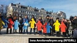 Флешмоб у пам'ять про Решата Аметова, Київ, 16 березня 2016 року