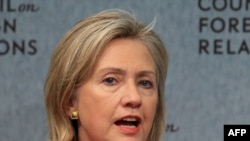 Secretary of State Hillary Clinton speaks at the Council on Foreign Relations