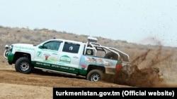Тестовый заезд президента Туркменистана Гурбангулы Бердымухамедова, февраль, 2018