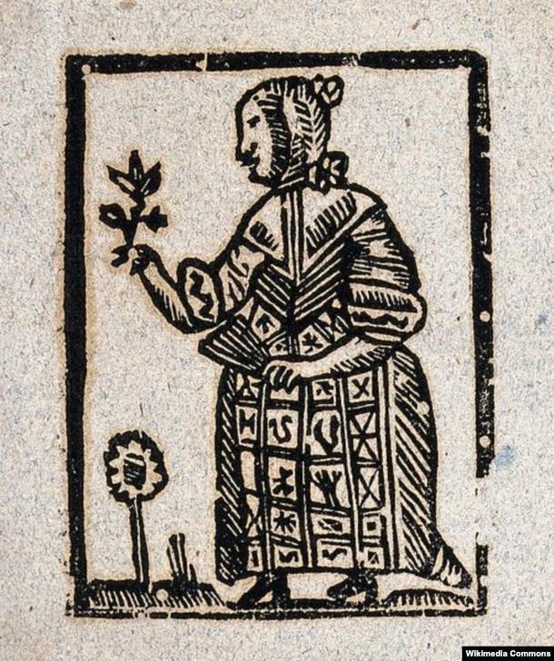 Ведьма. Гравюра. Около 1700-1720