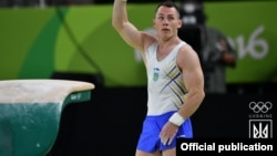 Гимнаст Игорь Радивилов во время Олимпиады в Рио
