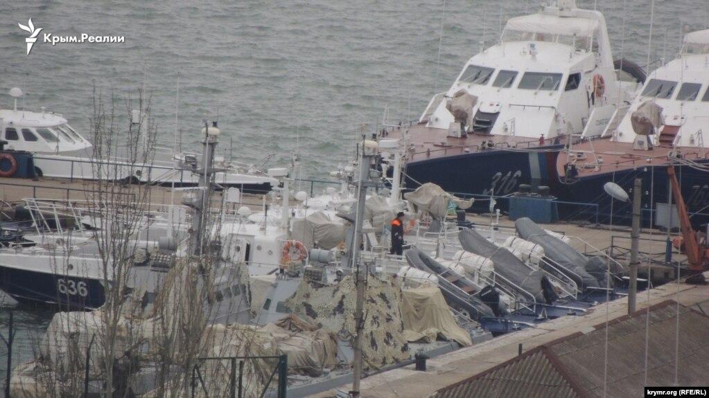 UKRAINE - Ukrainian military boats in the port of Kerch, 11Feb2019