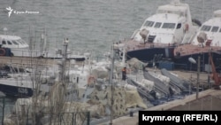 UKRAINE - Ukrainian military boats in the port of Kerch, 11Feb2019