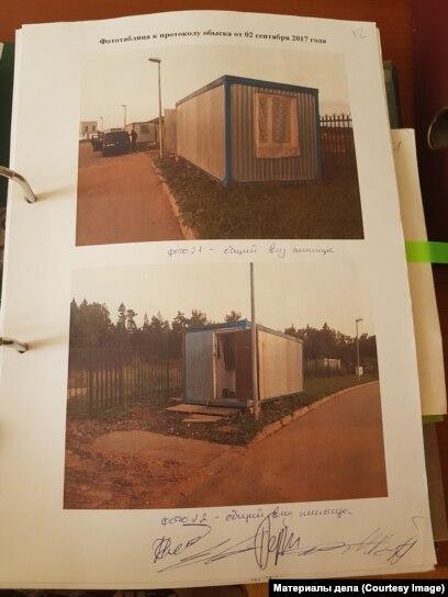 """Бытовка в коттеджном посёлке """"Артек"""", где был задержан Диловаршо Шарипов."""