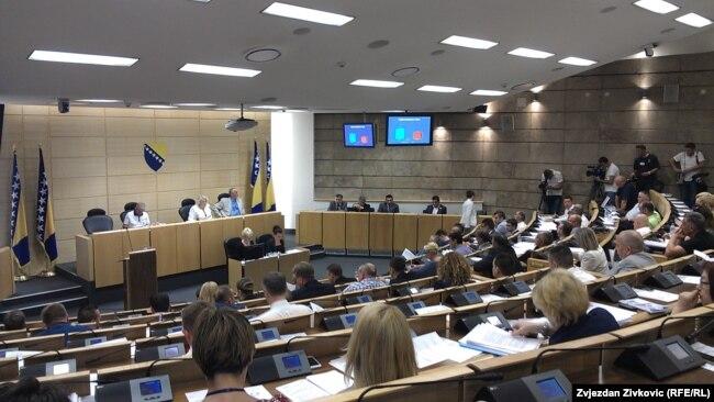 """Iza svih """"igara"""" stoje politički interesi: Čengić (na fotografiji: Parlament Federacije BiH)"""