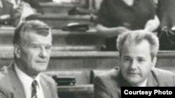 Ivan Stambolić i Slobodan Milošević, arhivski snimak: jun 1987. Foto: Arhiv Jugoslavije (www.arhivyu.gov.rs)