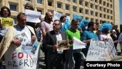 Акція в Тбілісі на підтримку азербайджанського журналіста, який заявив про викрадення