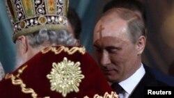 Vladimir Putin de Paști în 2012