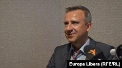 Robertas Šapronas în studioul Europei Libere la Chișinău