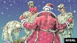 Russia -- Mikhail Zlatkovsky cartoon, new year, Santa Claus, search, police, 28Dec2009