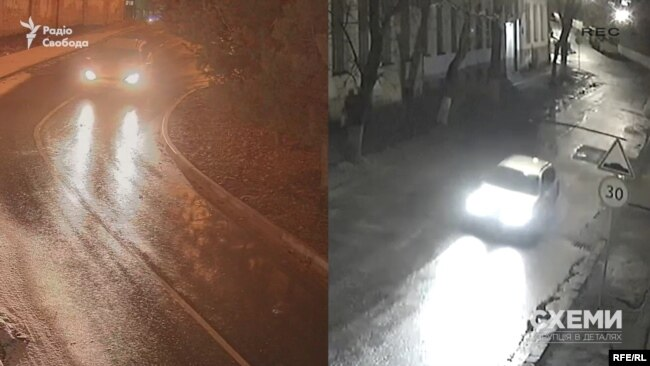 Чи одне і теж авто фіксували камери перед підпалом і після?