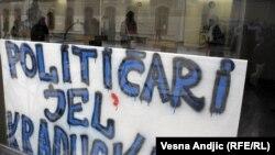 Protest studenata na Filozofskom fakultetu