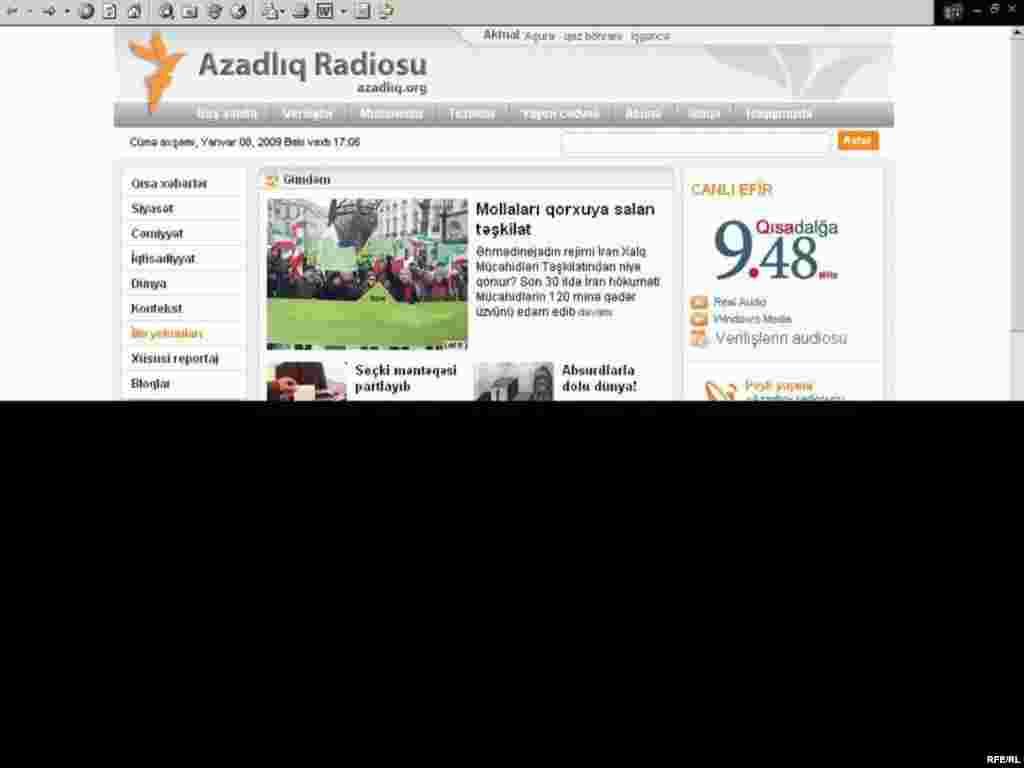 «Azadlıq» radiosunu internetdə necə dinləməli #4