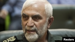 "Revolutionary Guard commander Hossein Hamedani was quoted as saying that the Syrian regime was no longer ""at the risk of collapse."""