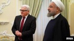 دیدار فرانک والتر اشتاینمایر، وزیر خارجه آلمان، با حسن روحانی، رئیس جمهور ایران در تهران