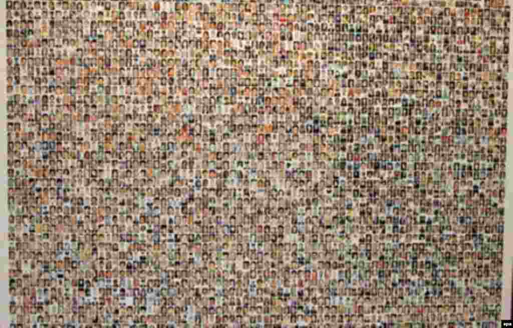 A composite of photographs of victims of the 9/11 terrorist attacks that was entered into evidence against Zacarias Moussaoui (epa) - On May 6, 2006, Zacarias Moussaoui was sentenced to life in prison for his role in the September 11, 2001, terrorist attacks in the United States. In March, Moussaoui testified that Al-Qaeda leader Osama bin Laden had ordered him to fly a hijacked airliner into the White House. In April, he entered a guilty plea in his trial.