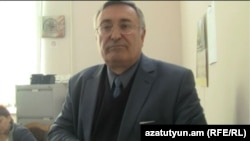 Armenia -- Edik Minasian, dean of the History Department at Yerevan State University, is interviewed by RFE/RL's Armenian Service, 26 Nov2012.