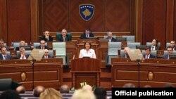 Godišnje obraćanje predsednice Kosova Atifete Jahjaga pred poslanicima Skupštine Kosova, Priština, 17. decembar 2015.
