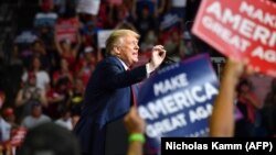 Президент США Дональд Трамп 20 червня в Тулсі, штат Оклахома