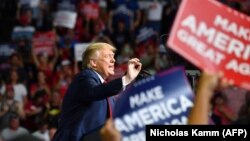 US President Donald Trump speaks during a campaign rally at the BOK Center on June 20, 2020 in Tulsa, Oklahoma.