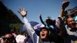 FILE: Demonstrators from Afghanistan's Hazara minority protest in Kabul.