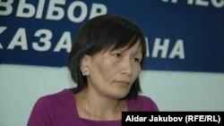 Zoya Narymbaeva, wife of opposition activist Yermek Narymbaev