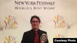 وحید پوراستاد، برنده جایزه دوم فستیوال نیویورک شد.