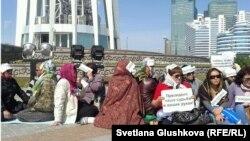 Акция протеста ипотечников в Астане. 27 мая 2013 года.