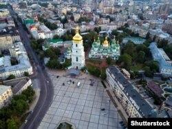 Софія Київська. Вигляд на собор і дзвіницю