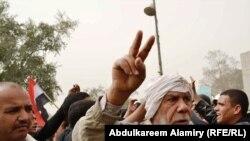 Дэманстрацыя ў Басры 4 сакавіка 2011 г.