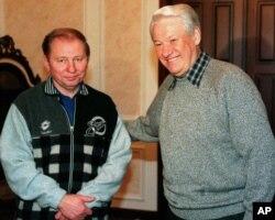 Леонід Кучма та Борис Єльцин, 1997 рік, Москва
