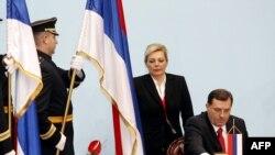 Milorad Dodik za vrijeme ceremonije preuzimanja dužnosti predsjednika REpublike Srpske, 15. novembar 2010. godine