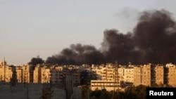 Кварталы Алеппо после налета авиации Асада