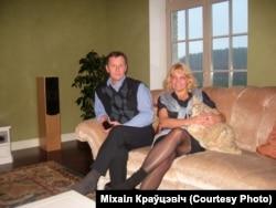 Сьвятлана Купрэева з мужам Міхаілам Краўцэвічам, зь сямейнага архіву