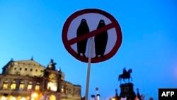Демонстрация против новых мигрантов в Европе. Дрезден, февраль 2016