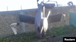Part of the helicopter that was destroyed in the raid on Osama bin Laden's compound in Abbottabad
