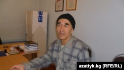 Azimjan Askarov during a visit by his wife to his prison in March