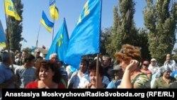 Акція щодо «продовольчої блокади» Криму, Чонгар, 20 вересня 2015 року