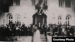 Orchestra din Chișinău în 1927 dirijată de Antonin Ciolan