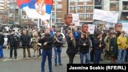 Protest u Mitrovici, 29. januar 2016.