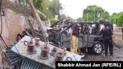 Pakistan, Peşawar partlamasynyň bolan ýeri. 3-nji sentýabr, 2012.