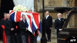 Funeraliile fostului premier britanic Margaret Thatcher