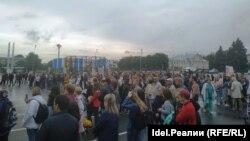 Митингующие требовали защитить население от выбросов