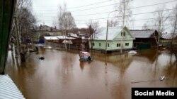 Наводнение в Великом Устюге, апрель 2016 год