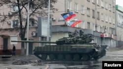 Бойовики угруповання «ДНР» у Донецьку. Лютий 2015 року