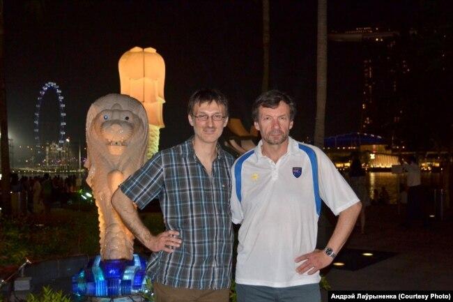 С учеником Дмитрием Чигрин на симпозиуме в Сингапуре
